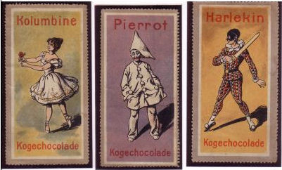 Chocolate Wrappers with Commedia Dell'Arte Characters